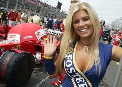 Hot Blonde F1 Pit Girl