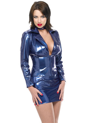 Hot Girl in pcv plastic outfit