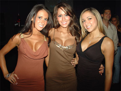 3 Gorgeous babes at a party