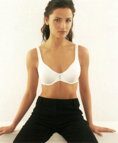 Hot brunette in underwear