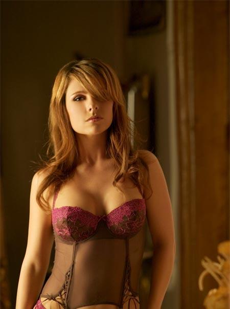 hot brunette in sexy lingerie
