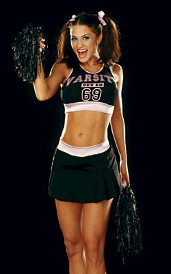 Hot cheerleader girl