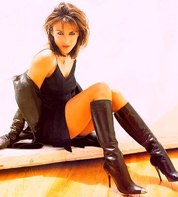 Babe in black boots